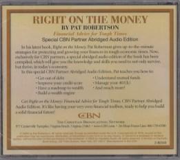 right on the money robertson pat