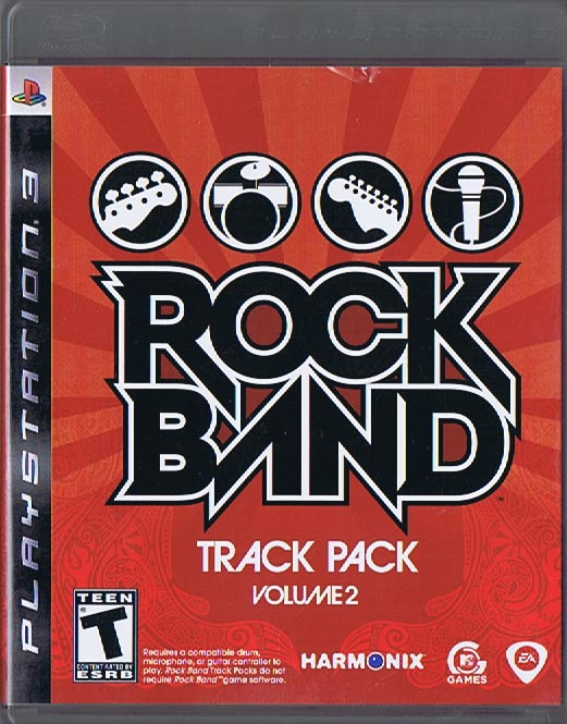 ROCK BAND: Track Pack, Vol  2 - PlayStation 3 Case & Manual - No Disc