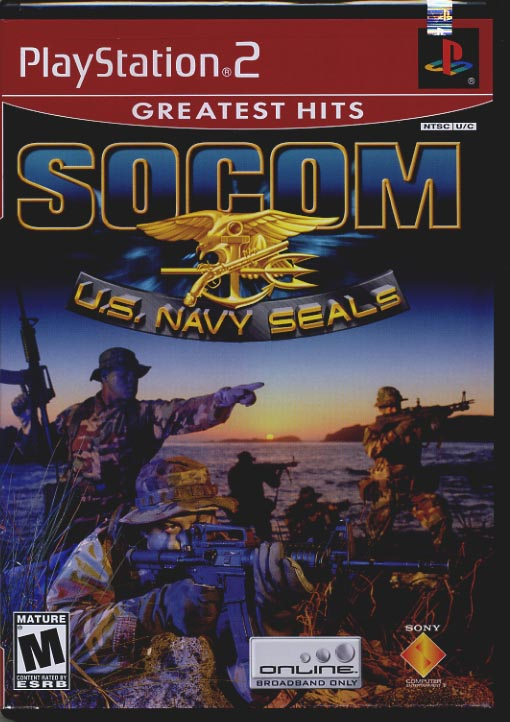 SOCOM: U S  NAVY SEALS - Complete & Nice PlayStation 2 Game