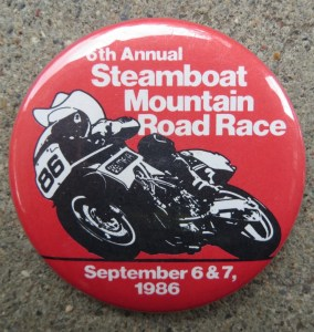Steamboat Mountain Race - 1986 Button
