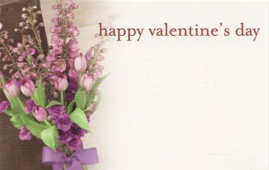 Happy Valentine's Day - purple flowers