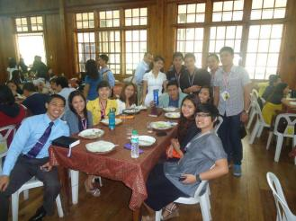 lunch time with other delegates