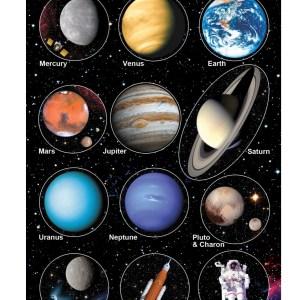 Planets of the Solar System Fridge Magnet Set of 12