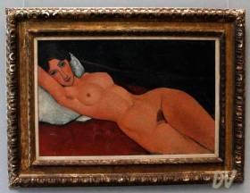 Nudo femminile su cuscino bianco - Amedeo Modigliani