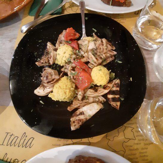 Melanzane e verdure con palline al curry