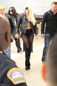 Lady Gaga in Collant Neri