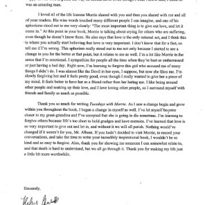 Student sample letter, page 2