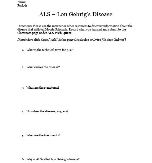ALS Web Quest