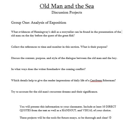 A sample of my group project sheets. This is for Group One. I adapted these and made them my own!