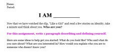 I Am, a summative assessment of figurative language.