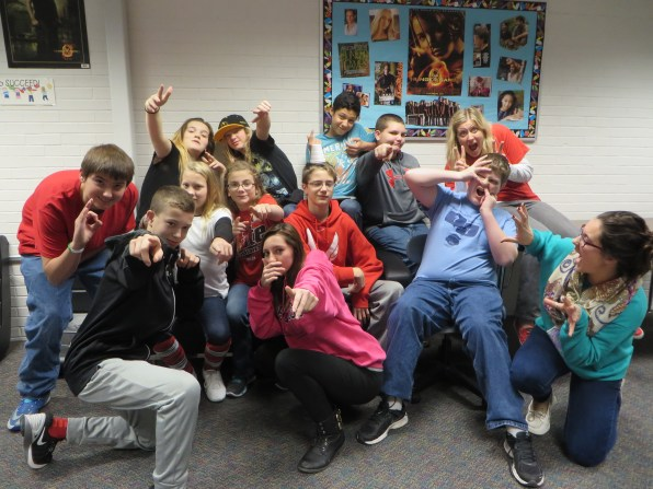 Goofing around with my period 6 eighth graders