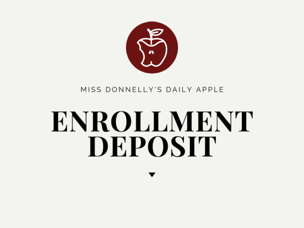 enrollment deposit