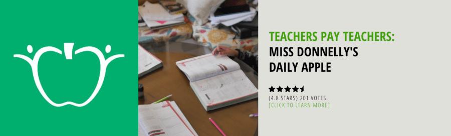 Teachers Pay Teachers Miss Donnelly's Daily Apple
