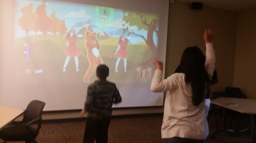 Taking a dance break with our student!