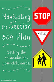 How to accommodate for 504 Plans in the classroom? Adapting lesson plans, due dates, assignment criteria. Communicating with parents, student, and special education teachers about what is needed in classroom.