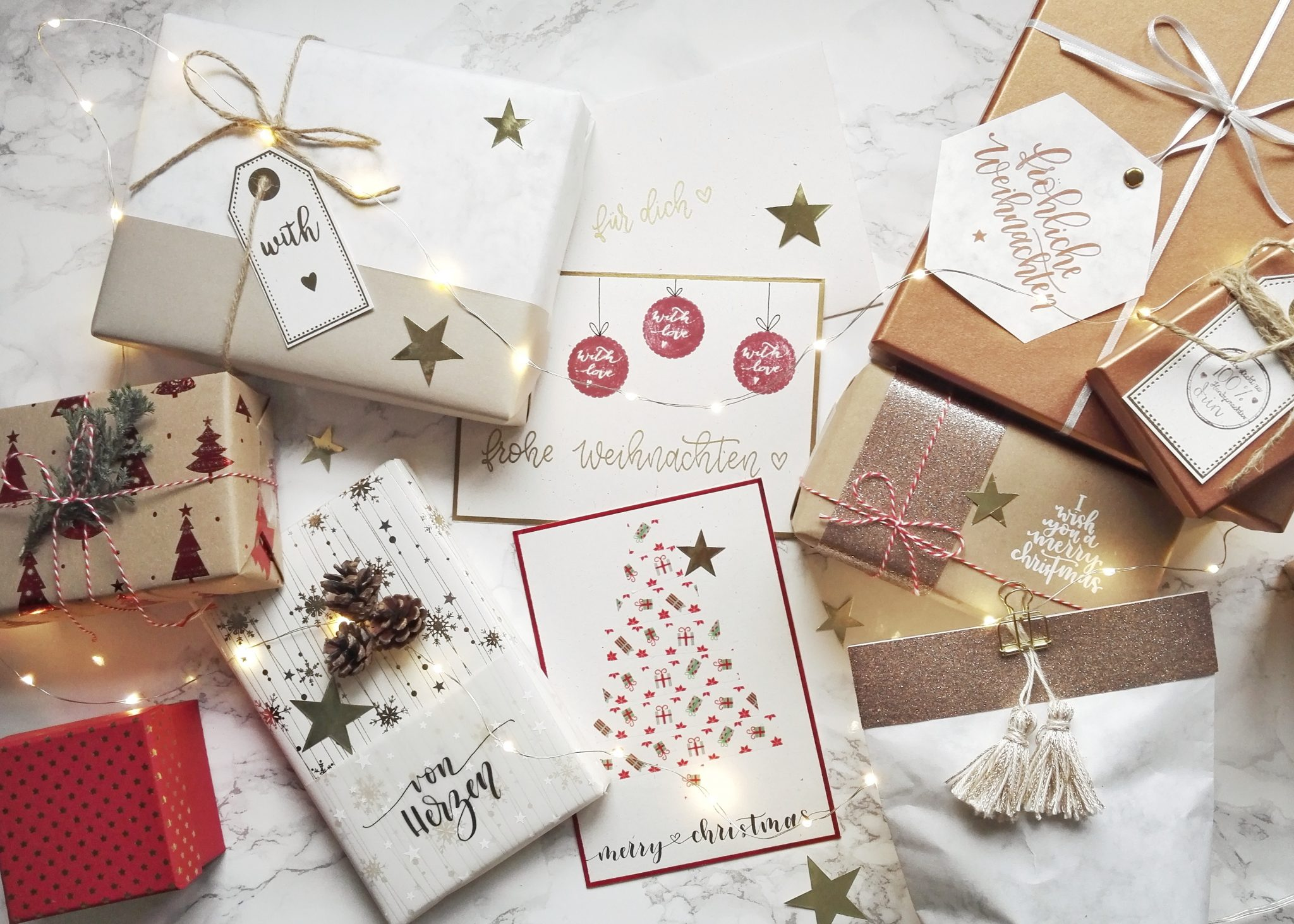 Geschenke individuell verpacken