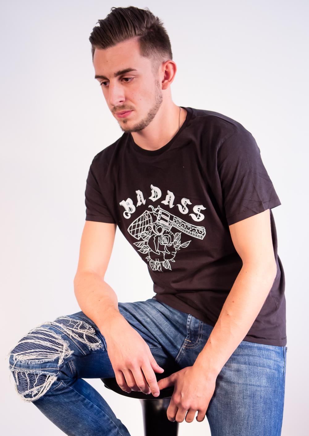 T-Shirt Homme Badass Noir