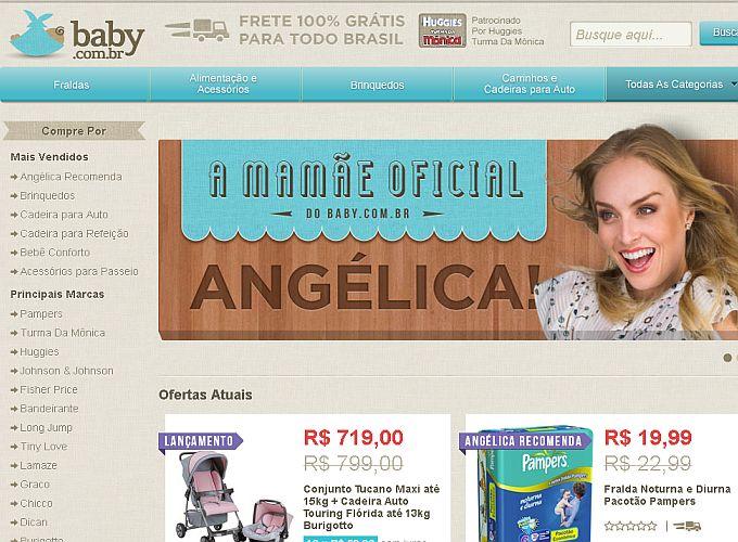 Baby SITE WWW.BABY.COM.BR A LOJA A APRESENTADORA ANGÉLICA