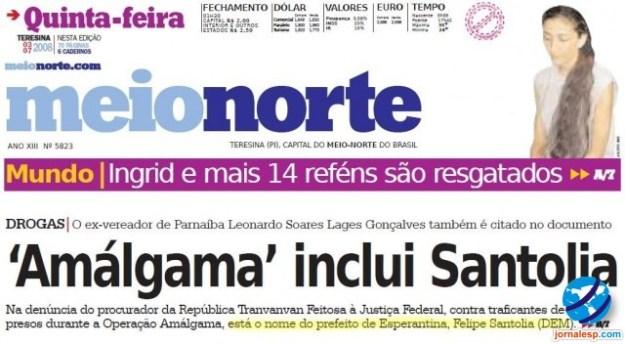 Assinar Jornal Meio Norte - Teresina PI