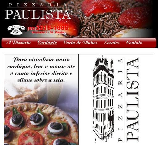 PIZZARIA 252520PAULISTA Pizzaria Paulista em Goiânia, Endereço e Telefone