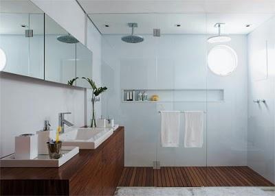 utilize madeira banheiros diferentes estilos 01 Modelos de Projetos Para Banheiros