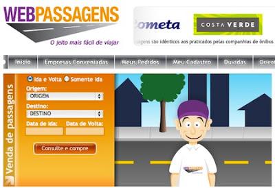 webpassagens passagem pela internet WebPassagens, site para comprar passagem de ônibus online