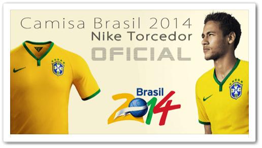 Promoção de Camisa Oficial do Brasil Amarela Nike