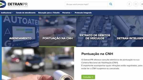Detran PR Consulta de Pontos CNH