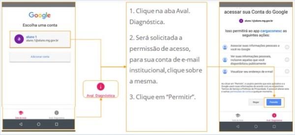 Como fazer Avaliação Diagnóstica. Coneção Escola 2.0 Web, Aplicativo.