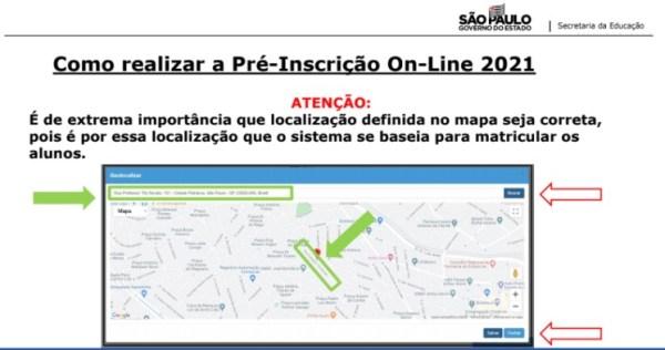 Captura de Tela 2021 03 25 às 11.19.48 Pré-Inscrição online 2021 para Matrícula Rede Pública de Ensino São Paulo