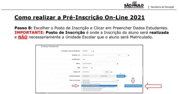 Captura de Tela 2021 03 25 às 11.20.02 Pré-Inscrição online 2021 para Matrícula Rede Pública de Ensino São Paulo