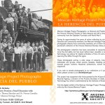Mexican Heritage Project Flyer from the Arizona Historical Society in Tucson, AZ