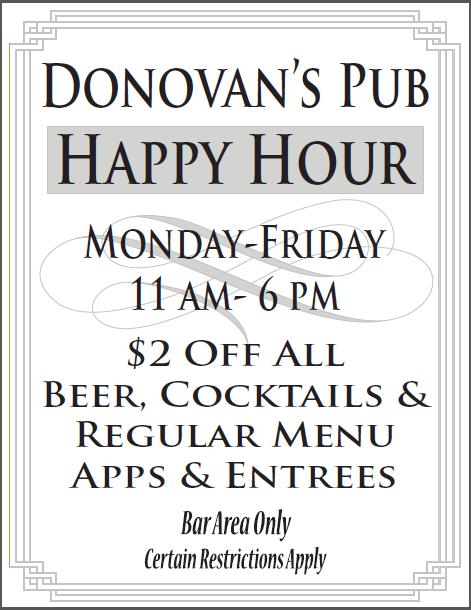 Donovan's Happy Hour!