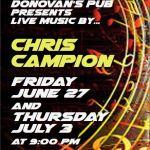 Donovan's Presents - Chris Campion Live!