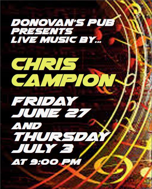 Donovan's Presents – Chris Campion Live!
