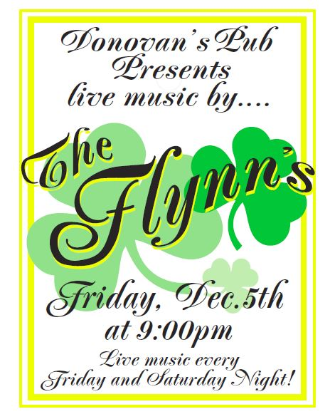 Live music by The Flynns!