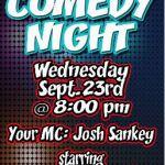 DONOVAN'S PUB Presents COMEDY NIGHT Wednesday September 23rd @ 8 PM!