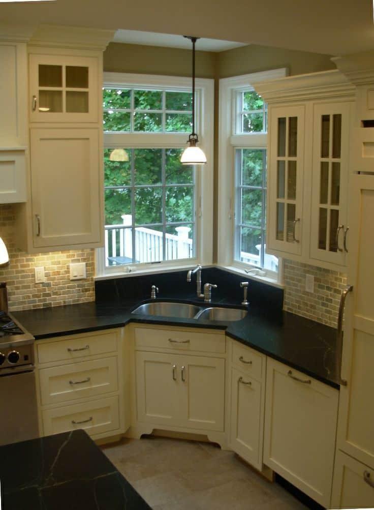 Corner Kitchen Sink: 7 Design Ideas for Your Perfect Kitchen on Kitchen Sink Ideas  id=48873