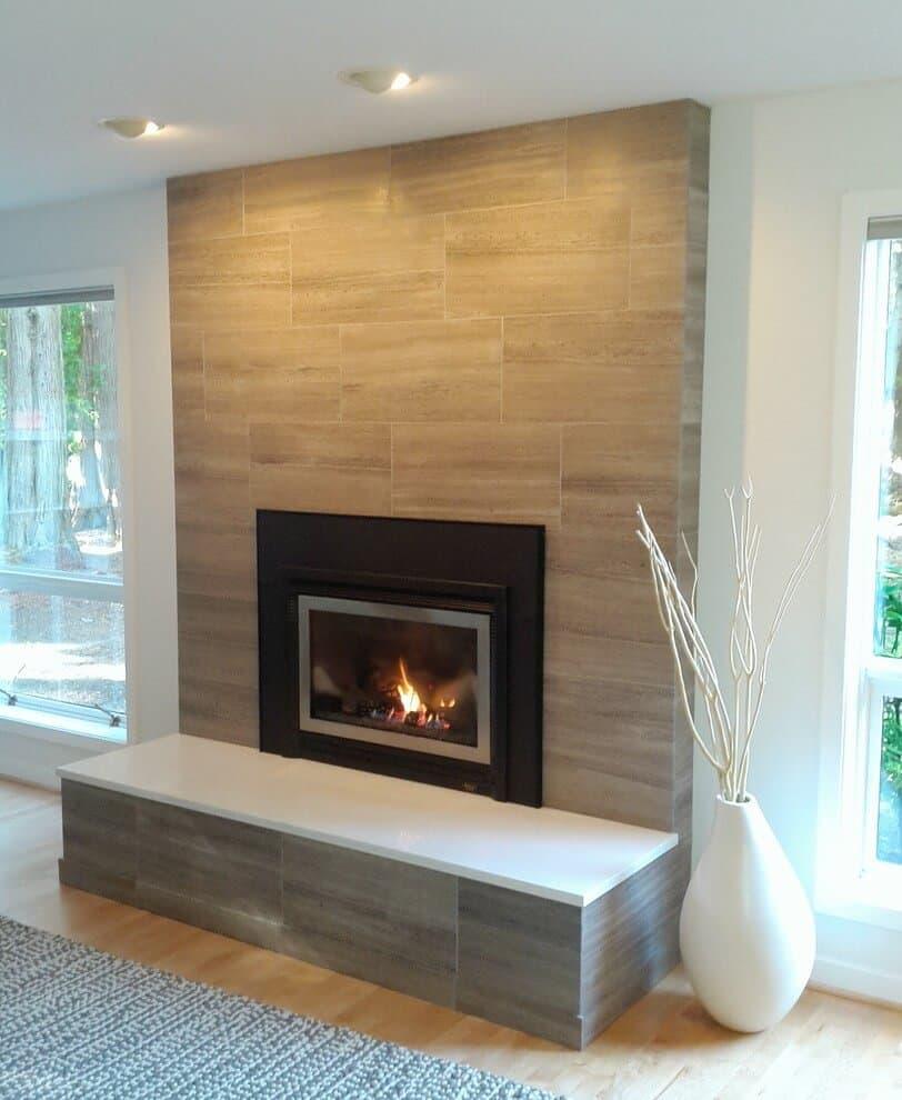19 stylish fireplace tile ideas for