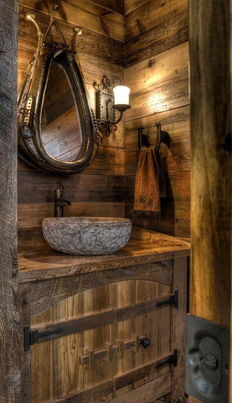 30 rustic bathroom vanity ideas that are on another level on rustic bathroom designs photos id=24736