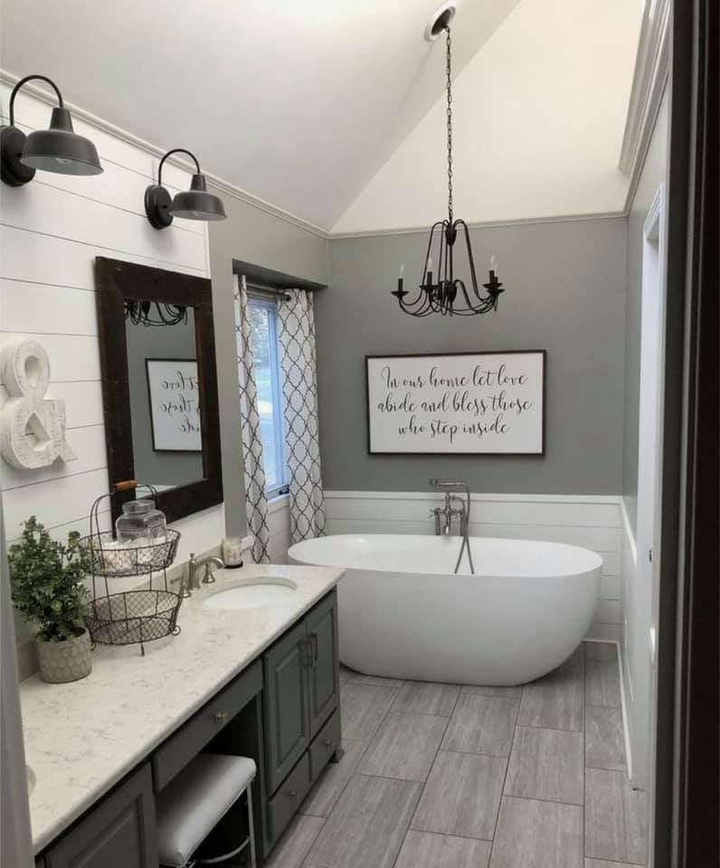 Farmhouse Bathroom Decor: 23 Stylish Ideas to Inspire You on Farmhouse Bathroom Ideas  id=80646