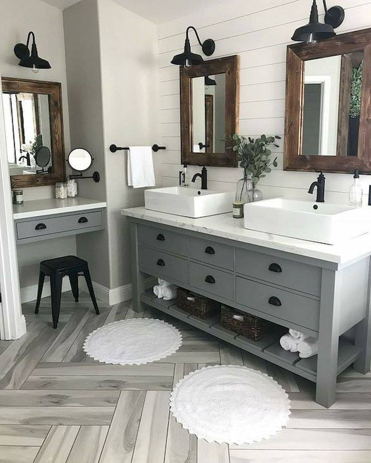Farmhouse Bathroom Decor: 23 Stylish Ideas to Inspire You on Rustic Farmhouse Bathroom  id=34536