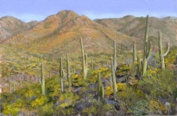 Amole Peak by Western pastel landscape artist Don Rantz