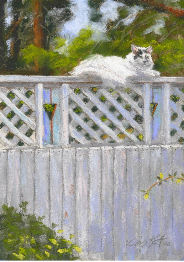 Bandit by Western pastel landscape artist Don Rantz