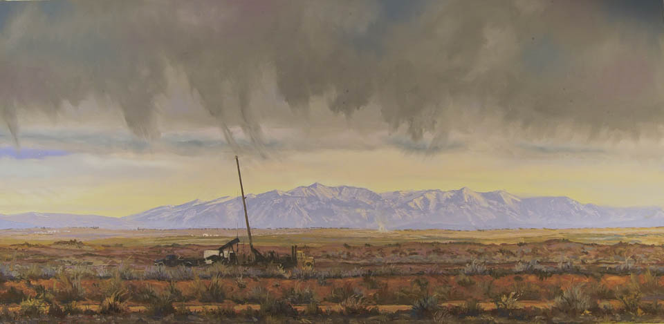 Bisti Plateau by Western pastel landscape artist Don Rantz