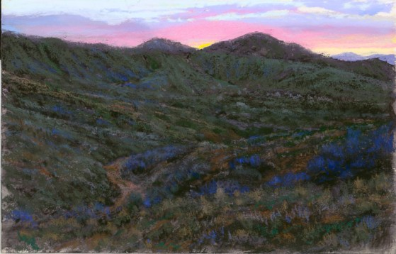 Sunrise Over Bloody Basin by Western pastel landscape artist Don Rantz
