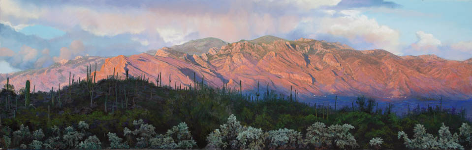 Catalina Sunset 2 by Western pastel landscape artist Don Rantz