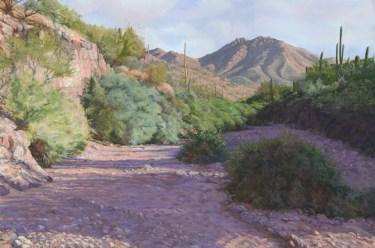 Desert Arroyo by Western pastel landscape artist Don Rantz
