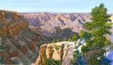 Grand Canyon 2 by Western pastel landscape artist Don Rantz