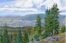 Grand Mesa-The View North by Western pastel landscape artist Don Rantz